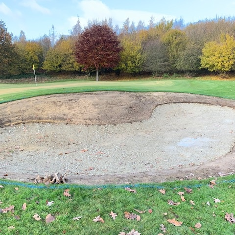 golf bunker surface