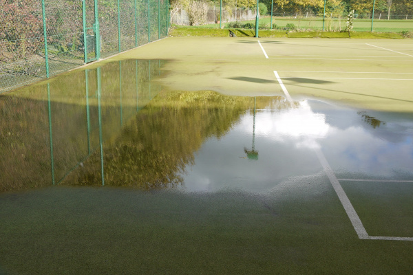 Flooding On Tennis Court